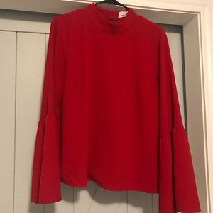UO Red Blouse
